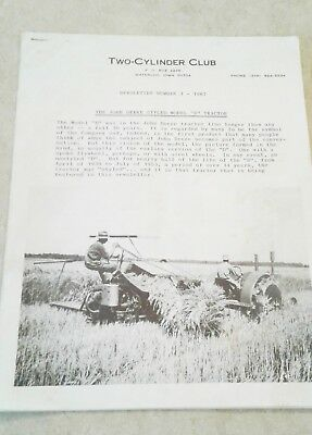 1987 #3 Newsletter Two Cylinder Club Magazine - John Deere Model D Tractor