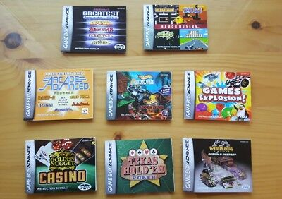 LOT of Nintendo Gameboy Advance Manuals Instruction Booklets Free Ship