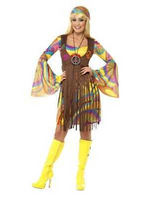 WOMENS PLUS SIZE 1960s GROOVY LADY COSTUME SIZE 1X (18-20)