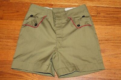 Vtg official Boy Scouts red piped shorts excellent condition - from 60's?  EUC
