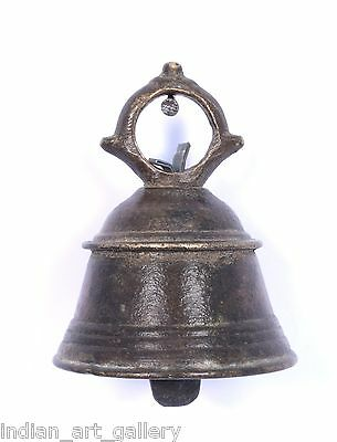 Antique Authentic Indian Handcrafted High Aged Bronze Temple Bell. i9-20 US