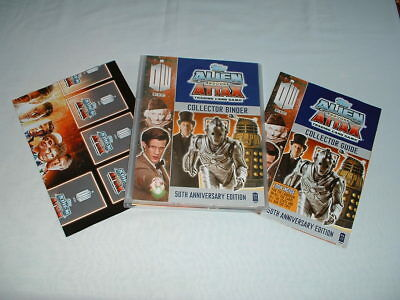 DOCTOR WHO ALIEN ATTAX 50TH ANNIVERSARY TOPPS Trading Cards Game Set & Binder DR