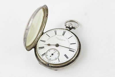 Antique 1895 Hallmarked Chester Silver Key-Wind FUSEE Pocket Watch FOR REPAIR
