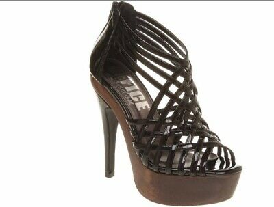 Women's Maneater Black Patent Pu High Heel shoes Size uk 5 EU 38 RRP £75 #419