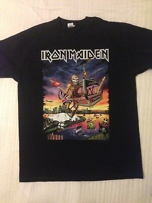 Iron Maiden XL The Book Of Souls Tour 2017 London o2  Event T Shirt