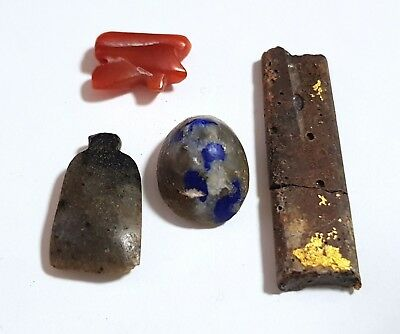 Group of  Ancient Egyptian Amulets and fragments