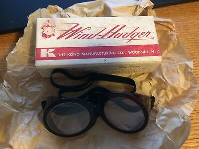 Vintage Wind Dodger The Kono Manufacturing Company New Old Stock Goggles