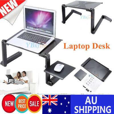 Home Portable Laptop Computer PC Desk Notebook Stand Tray Mouse Holder Bed Table