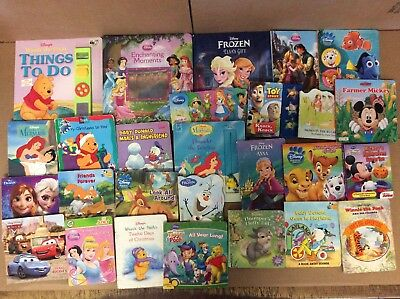Lot of 25 Disney Board Toddler Hardcover Picture DayCare Child Book UNSORTED K88