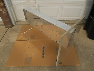 Mid Century Modern Lucite / Acrylic & Glass Dining Table Base