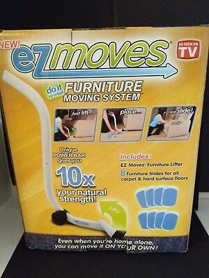 NEW EZ Moves Furniture Moving System With Lifter Tool U0026 8 Slides