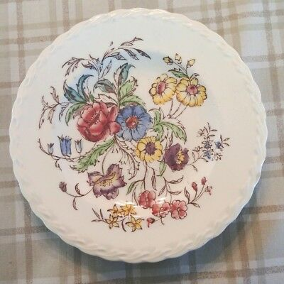 """Vintage Hand Painted May Flower by Vernon Kilns Bread Dessert Plate 6.5"""""""
