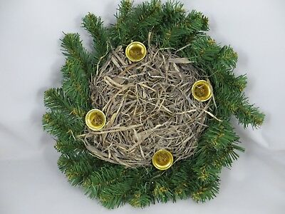 "Christmas Advent Wreath 12""   Pine Artificial  Simple  & ready to Use"