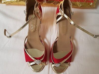 My JuJu red and gold dance shoes size 43 (Size 10 AUS) not worn