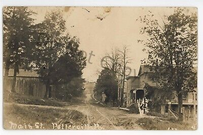 RPPC Main Street view POTTERVILLE PA Bradford County Real Photo Postcard