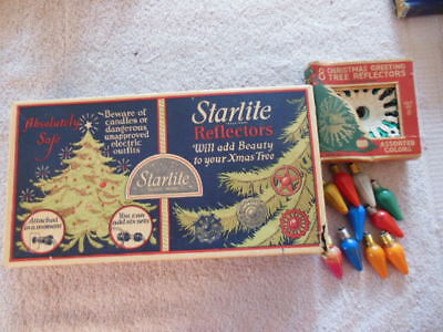 Vintage Noma Starlite light string with Double Glo Reflectors - C6 lights