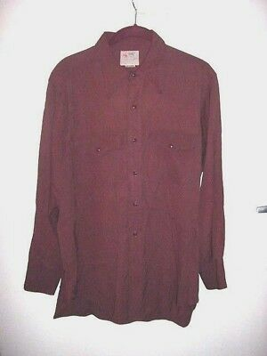 Hard to Find Vintage RANGE MASTER Men's Western Brown Shirt...No Size Tag