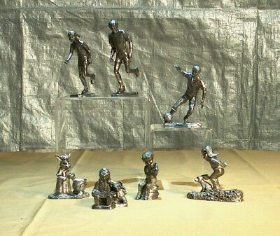 Michael Ricker Lot of 7 Assorted Handcrafted Pewter Figurines