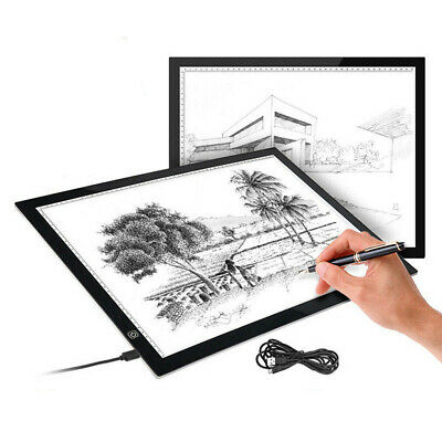 Portable Large Size A3 LED Light Craft Drawing Board Tracing Pad Copy Learning