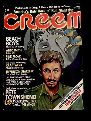 September 1975 CREEM MAGAZINE with Pete Townshend on the cover