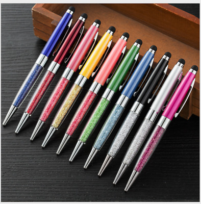 Pack of 10 Crystal Stylus Pen With Ball Point Pen For Cell Phone Touch Screen