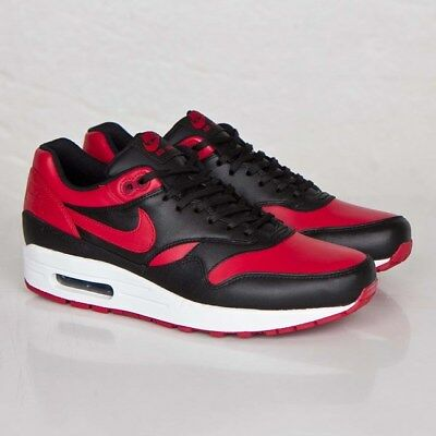 uk availability 22210 ecd88 Nike Air Max 1 Premium QS 665873-061 Black Varsity Red Men Size US