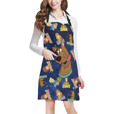 Scooby Doo Kitchen Apron with Pockets Fully Adjustable Working Clothing