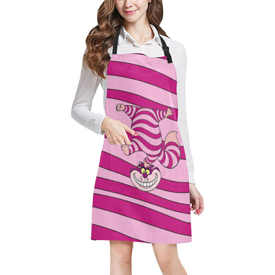 Alice In Wonderland Kitchen Apron with Pockets Fully Adjustable Working Clothing