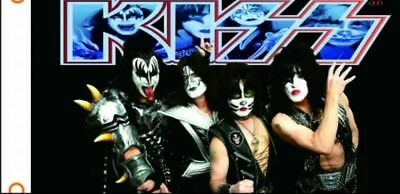Kiss Rock band music flag banner wall hanging large size 150cm by 90cm
