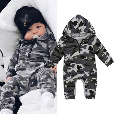 Newborn Infant Baby Boy Kids Romper Jumpsuit Cotton Bodysuit Clothes Outfit US