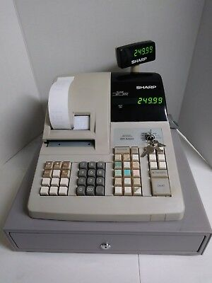 Used Sharp ER-A320 Electronic Cash Register w keys & money tray