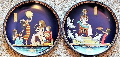 1992 &1993 Cleopatra Queen of Ancient Egypt Collection 4 plates Osiris Porcelain