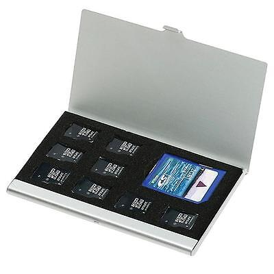 A Metal Aluminum Micro TF-SD MMC Memory Card Storage Holder Protecter Case #365D