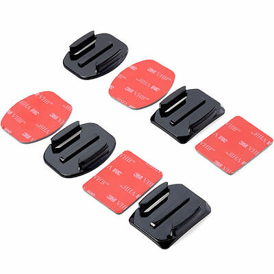 4PCS 3M Adhesive Pads Flat Curved Helmet Mount# for GoPro Camera Hero 1/2/3/3+/4