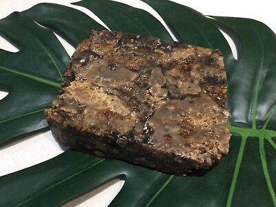 300g (3x100g) African Black Soap,Organic, Unrefined Hand Made in GHANA