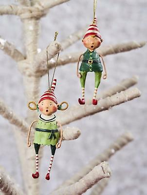 Lori Mitchell™ - Tootsie & Tinker Ornaments - Christmas Elves Kids Elf - 11116
