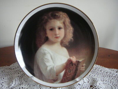 Cabinet Display Plate ~ Old Style Photo ~ Charming Little Girl - Gold Rim