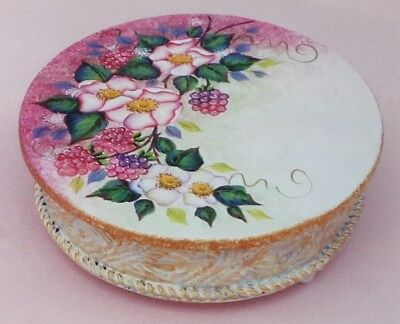 """Diane Trierweiler tole painting pattern """"Blossoms & Berries Candle Holder"""""""