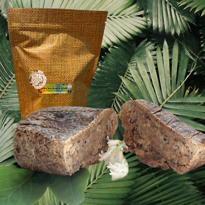 ORGANIC AFRICAN BLACK SOAP--Pure & Natural-Premium Quality- Hand Made in GHANA