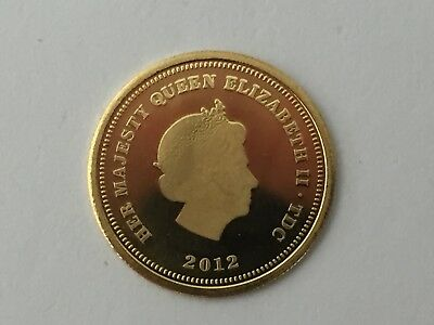 9ct Gold QEII 2012 Gold Half Crown Jubilee bullion coin - numbered 1.05 grams