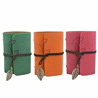 3 PCS 20 Pockets* 3 Retro Portable PU Leather Leave Pattern String Credit Card 8