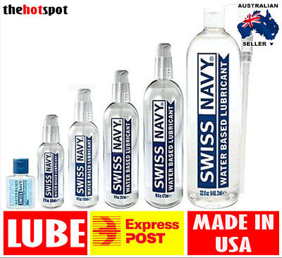 Swiss Navy Water Based Premium Lube Sex Toy Personal Lubricant Couples DISCREET