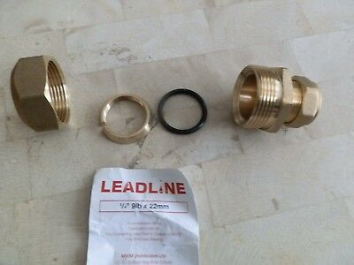 22MM x 3/4, 9LB COMPRESSION FITTING FOR JOINING LEAD TO COPPER