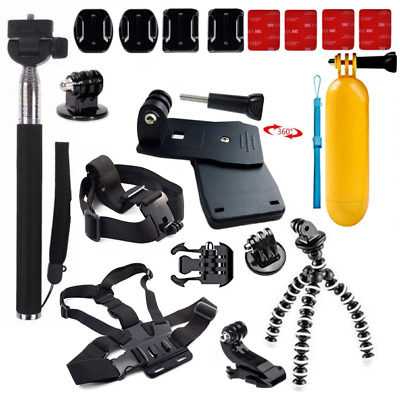 GoPro Accessories Kit Action Camera Accessory set Bundle Head Mount Chest Strap