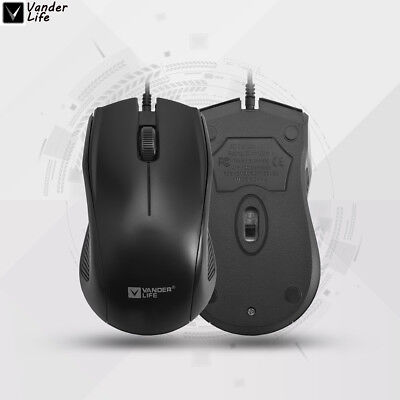 2018 Neu 2.4GHz USB Wired Maus PC Mouse Computer Laptop Gaming Mäuse Notebook