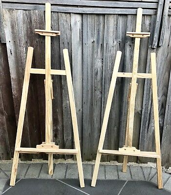 Large Adjustable Pine Artist/Working Easel - 1 available & 1 Sold