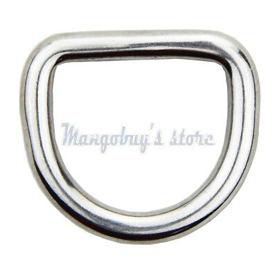 5PCS Delta & O & D Ring rings 316 stainless steel polished welded 15 20 25 30 mm