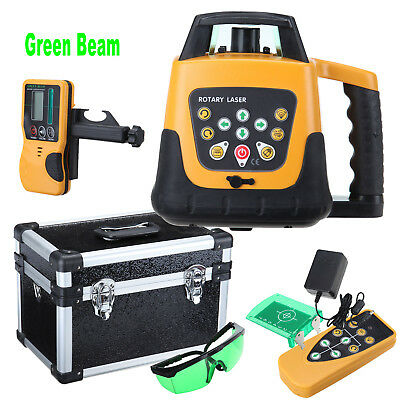 Automatic Self-leveling Rotary Laser Level Green Beam 500m + Remote Control Case