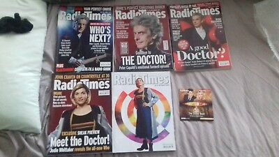 Radio times x 5 jodie Whittaker/Peter Capaldi Dr Who