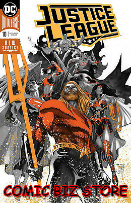 Justice League #10 (2018) 1St Printing Manapul Foil Cover Dc Uni Drowned Earth